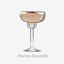 Brandy Cocktail Alexander. Mil...