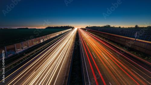 Fotografía Lichter der Autobahn