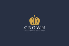 Crown Logo And Royal Icon Vect...