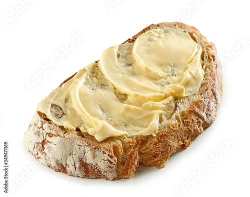 Fotografie, Obraz slice of bread with butter