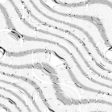 Seamless Texture Of Black White Stone Waves, Watery Hatched Wavy Shapes