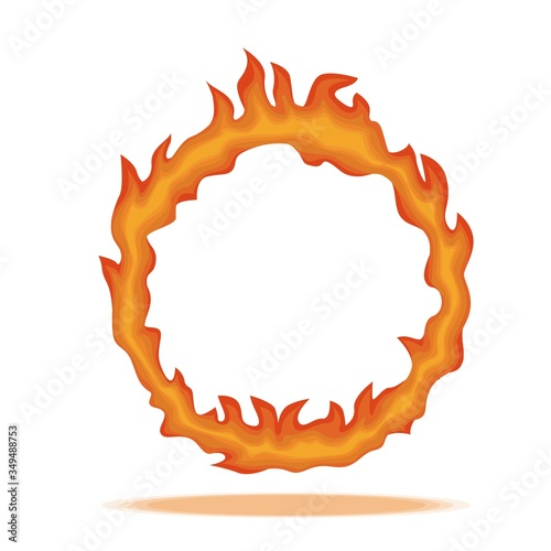 Ring of fire Tablou Canvas