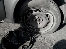 Cropped Image Of Broken Down C...