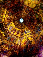 Low Angle View Of Mosaic Art O...