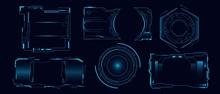Set Of Futuristic Hi Tech Hud ...