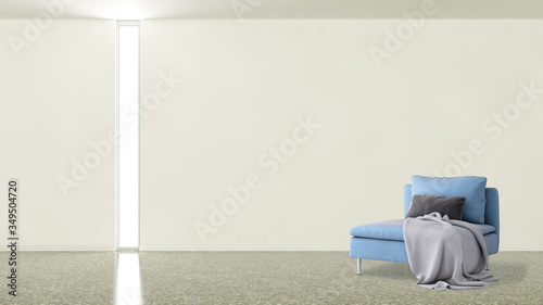 Fototapety, obrazy: Large luxury modern minimal bright interiors room mockup illustration 3D rendering