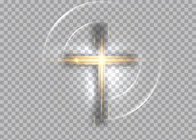 Cross Of Light, Shiny Cross Wi...