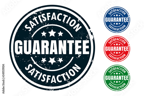 Obraz na plátne satisfaction guarantee rubber stamp seal design set