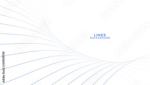 clean blend of lines flowing white background Canvas Print