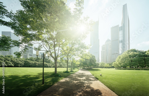 Green Space, Lujiazui Central, Shanghai, China #349523502
