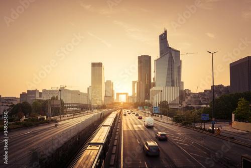 Paris LaDefense at sunset #349525150