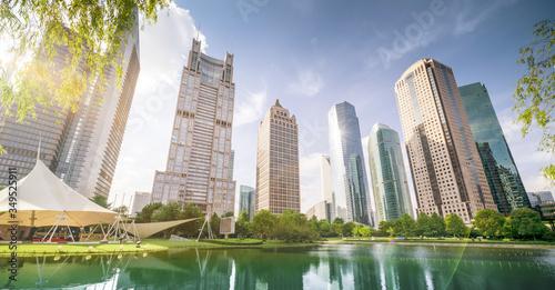 park in lujiazui financial centre, Shanghai, China #349525911