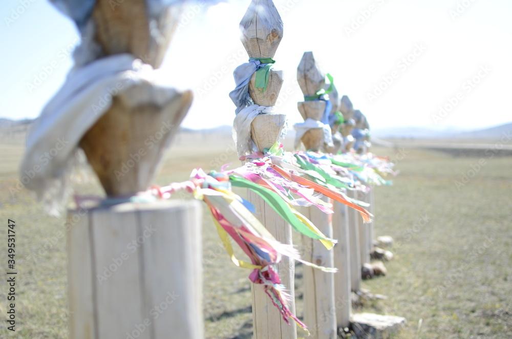 Fototapeta This is shamanic symbolism on Lake Baikal