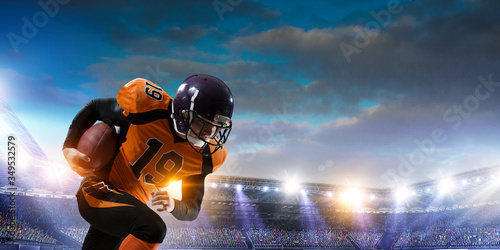 Foto American football player in action
