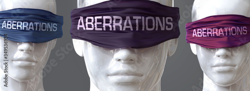 Photo Aberrations can blind our views and limit perspective - pictured as word Aberrat