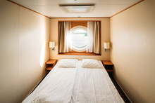 Ship Cabin With Bed And Window...