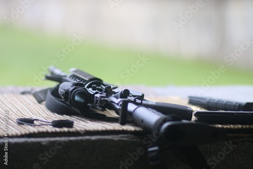 Canvastavla Close-up Of Sniper