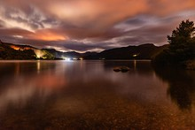 A Cloudy Night View On Derwent Water