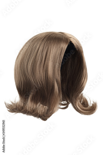 Photo Subject shot of a natural looking ashy brown wig without bangs