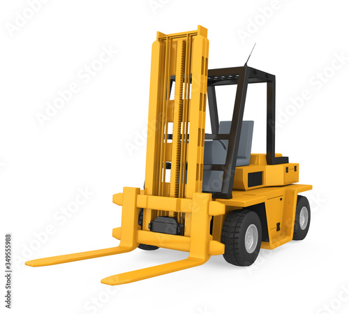 Fototapeta Forklift Truck Isolated obraz