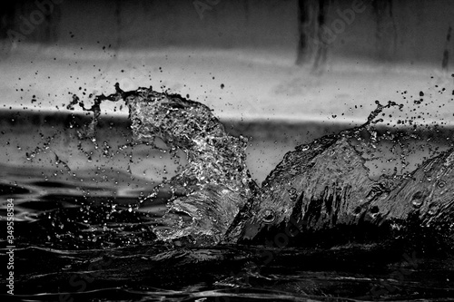 Obraz na plátně Close-up Of Water Splashing On Pool