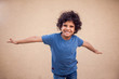 A portrait of happy kid boy. Children and emotions koncept