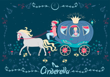 Cinderella In The Carriage. Fa...