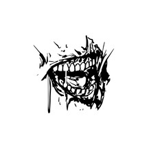 Scary Toothy Jaw Of A Zombie. Horror Mask Print