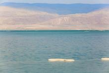 Salt Lumps Against The Jordanian Shore