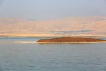 Small Island Against The Jordanian Shore