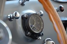Close-up Of Speedometer On Das...