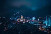Top View To Moscow City And Ho...