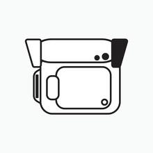 Simple Handycam Icon Illustrat...