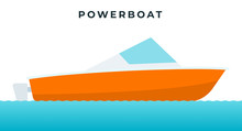 Powerboat , Small Boat Equippe...