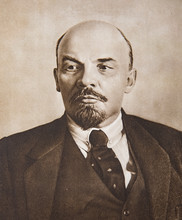 Vladimir Lenin Portrait, Russian Revolutionary And Head Of Government From 1917-1924. Picture From Book LENIN, Published By OGIZ State Publishing House Of Political Literature, Moscow 1939.