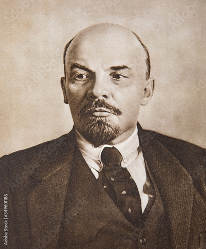 Fotografía Vladimir Lenin portrait, Russian revolutionary and Head of government from 1917-1924