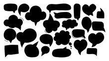 Hand-drawn Speech Bubbles Set ...