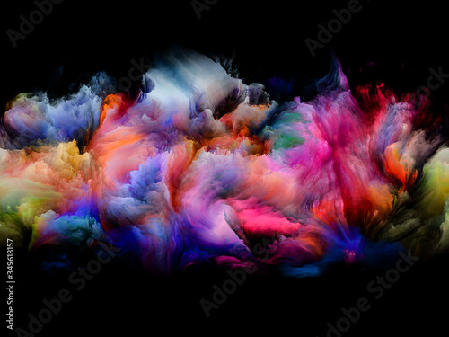 Colorful Abstract Smoke Fototapet