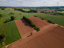 Green Rural Landscape On A Sunny Day - Agricultural Farmland