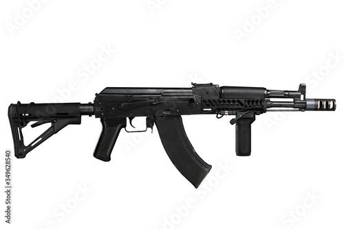 Kalashnikov assault rifle ak74 isolated on a white background Canvas Print