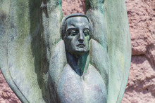 Bronze Winged Figure At Hoover...