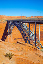 Glen Canyon Bridge Over The Colorado River