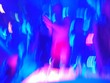 canvas print picture - Blurred Motion On People At Nightclub