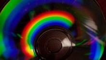 Close-up Of Multi Colored Compact Disc