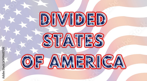 Photo The Divided States of America - VS - United States of America