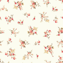 Seamless Vector Pattern Of A Rose Elegant Beautifully