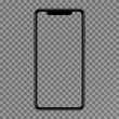 Realistic smartphone with a blank screen. Isolated cell phone mockup.Concept of touch screen smartphone with a blank interface.Mobile phone wireless communication. Vector 3d illustration.
