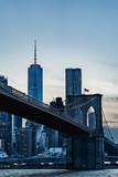 Fototapeta Most - New York panorama. Night view of Manhattan. World Trade Center skyscraper. New York view daytime. Famous New York skyline.