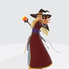 3d Illustration Of Wizard.  3d  Senior Wizard Prepares To Attack The Opponent