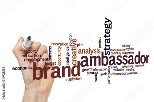 Brand ambassador word cloud concept Canvas Print